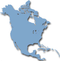 Map of North-America