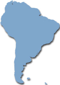 Map of South-America